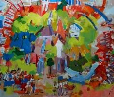 Schilderij Tubbergen Bruist gereed